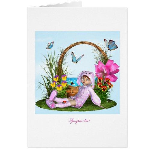 Amor de la primavera tarjeta de felicitación