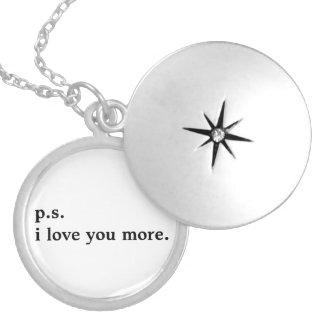 """""""amor de la PSI usted más."""" collar de plata"""