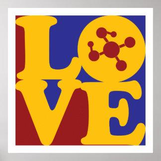 Amor de la química del polímero póster