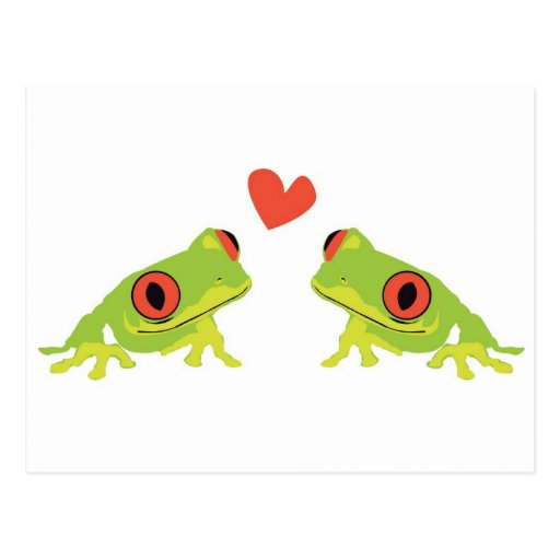 Amor de la rana arbórea postales