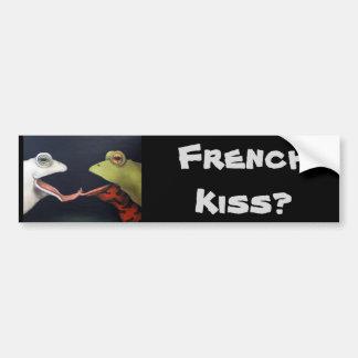 Amor de la rana -- El beso francés Pegatina Para Auto