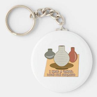 Amor de la rueda para la cerámica llavero personalizado
