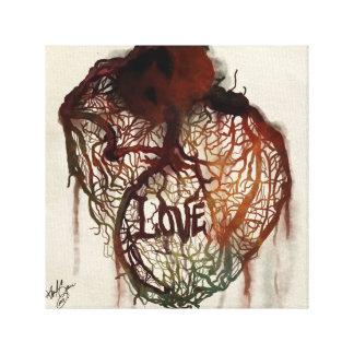 Amor de la sangría impresiones en lona estiradas