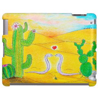 Amor de la serpiente en el desierto funda para iPad