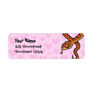 Amor de la serpiente etiquetas de remite