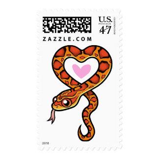 Amor de la serpiente sello postal