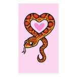 Amor de la serpiente plantillas de tarjeta de negocio