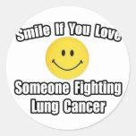 Amor de la sonrisa… alguien cáncer de pulmón que pegatinas redondas
