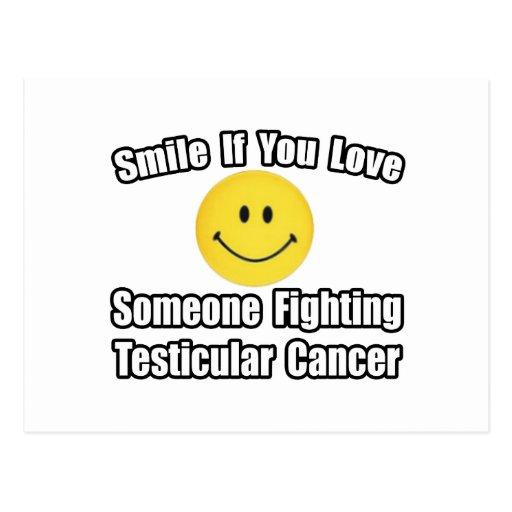 Amor de la sonrisa… alguien cáncer testicular que  postales