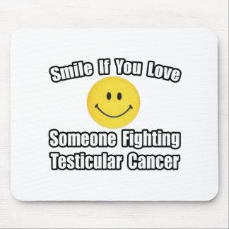 Amor de la sonrisa… alguien cáncer testicular que  alfombrilla de raton