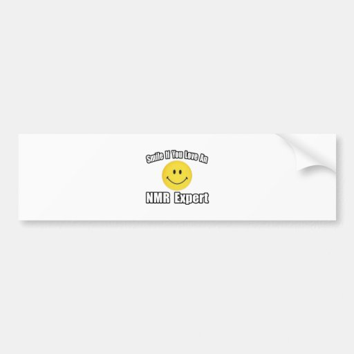 Amor de la sonrisa… un experto del RMN Pegatina De Parachoque