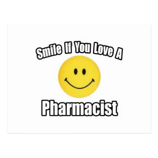 Amor de la sonrisa… un farmacéutico tarjetas postales