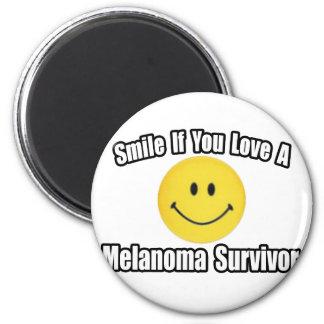 Amor de la sonrisa… un superviviente del melanoma imán de nevera