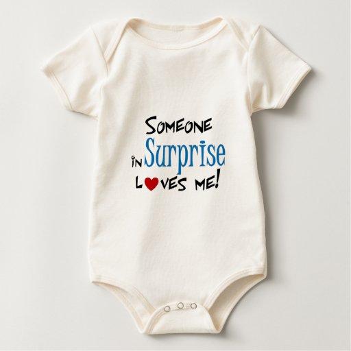 Amor de la sorpresa mamelucos de bebé
