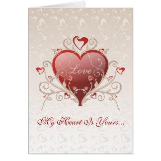Amor de la tarjeta del día de San Valentín -