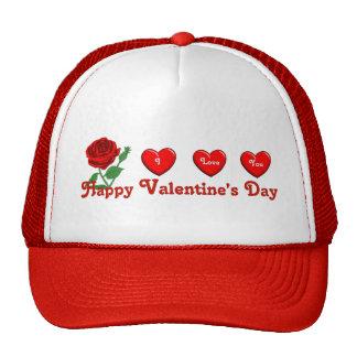 Amor de la tarjeta del día de San Valentín Gorro De Camionero