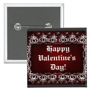 amor de la tarjeta del día de San Valentín Pin Cuadrado