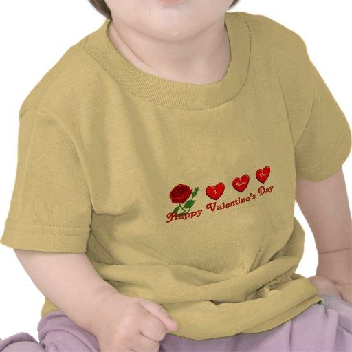 Amor de la tarjeta del día de San Valentín Camisetas