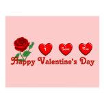 Amor de la tarjeta del día de San Valentín Postal