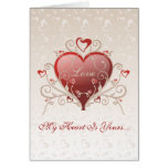 Amor de la tarjeta del día de San Valentín - tarje