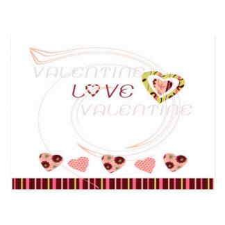 Amor de la tarjeta del día de San Valentín Postales