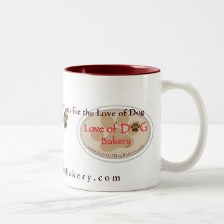 Amor de la taza de la panadería del perro