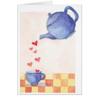 Amor de la tetera - tarjeta de nota
