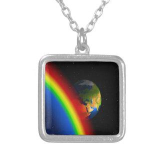 Amor de la tierra y del espacio del arco iris joyerias