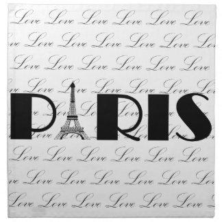 Amor de la torre Eiffel de París Servilleta