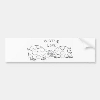 Amor de la tortuga etiqueta de parachoque