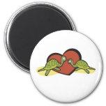 Amor de la tortuga de las tarjetas del día de San  Imanes