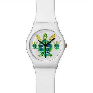 Amor de la tortuga de mar relojes