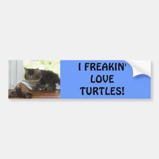 Amor de la tortuga pegatina de parachoque