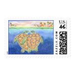 Amor de la tortuga sello