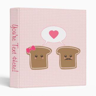 "Amor de la tostada de Kawaii Carpeta 1"""