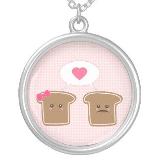 Amor de la tostada de Kawaii Colgante Redondo
