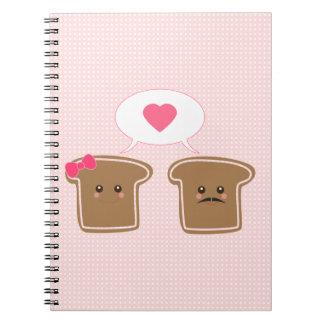 Amor de la tostada de Kawaii Libro De Apuntes