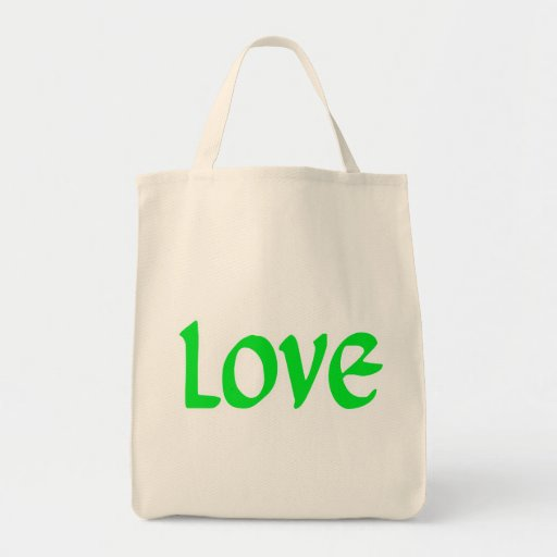 Amor de la verde lima bolsa tela para la compra