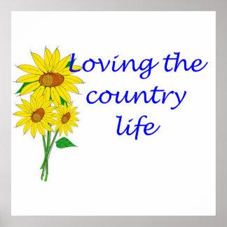 Amor de la vida en el campo póster