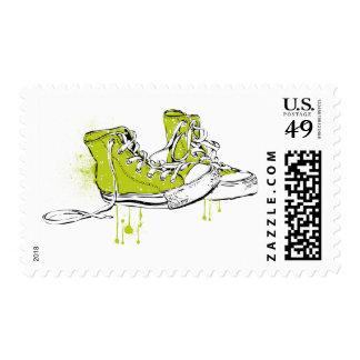 Amor de la zapatilla de deporte - verde