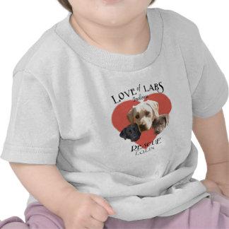 Amor de laboratorios camiseta