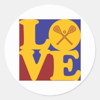 Amor de LaCrosse Etiquetas Redondas