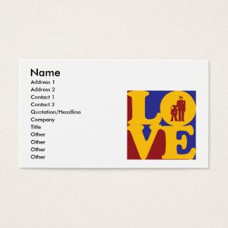 Amor de las correcciones tarjetas de visita