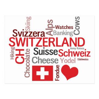 Amor de las cosas I sobre Suiza, queso, chocolate Postal