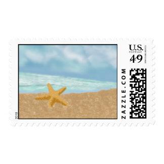 Amor de las estrellas de mar sello