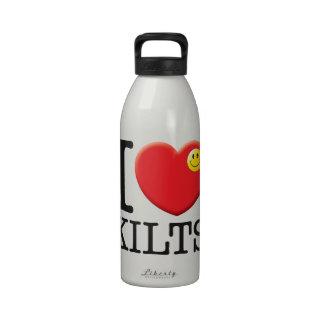 Amor de las faldas escocesas botella de beber
