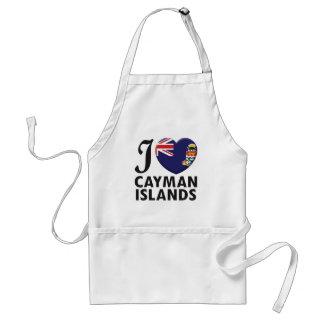 Amor de las Islas Caimán Delantal