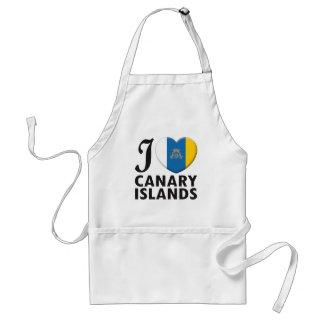 Amor de las islas Canarias Delantal