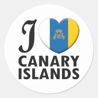 Amor de las islas Canarias Etiqueta Redonda