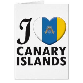 Amor de las islas Canarias Felicitaciones